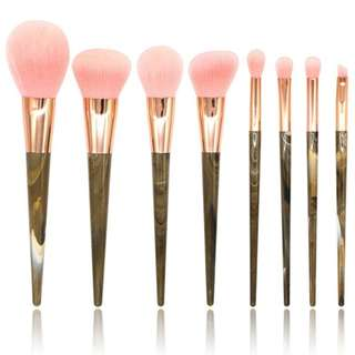 8pcs Makeup Brush Marble Stripes Goat Hair Brushes
