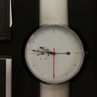 Greyhours Light Hours White Dial Red Hands Brand New