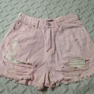 Highwaist shorts (pastel pink)