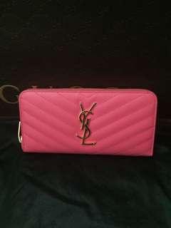 Ysl pink wallet
