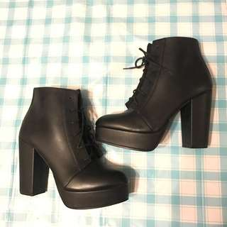 H&M Ankle Boots Faux Leather EU38