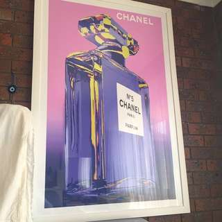 Large Chanel framed print 140cm x 100cm
