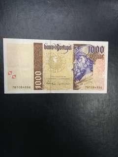 Portugal 1000 escudos 1998 issue