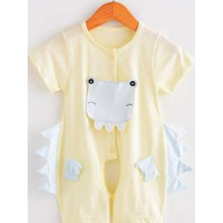 Yellow Crocodile Baby Newborn Romper/Onesie