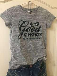 🚚 NAVY CO 灰色短袖T恤 上衣