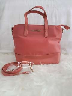 Mango Touch Pink Nylon Tas Handbag/Crossbody