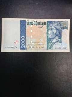 Portugal 2000 escudos 1996 issue