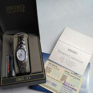 SEIKO 1-Diamond ladies watch