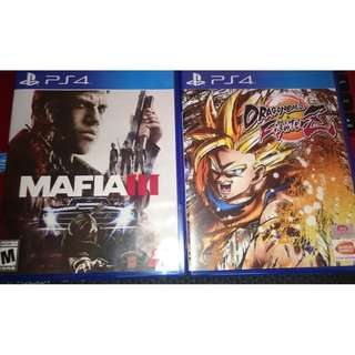 ps4 mafia 3 and dragonball fighter z bundle