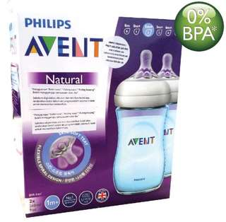 Avent Natural Bottles (twin) Blue 9oz