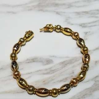 18K 750 Italy gold bracelet 14.5g