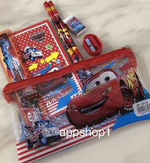 McQueen cars goody bag, stationary packages for birthday party goodies favors