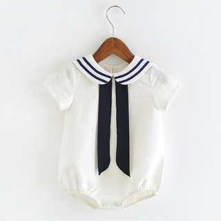 Cute Schoolgirl Baby Newborn Romper/Onesie