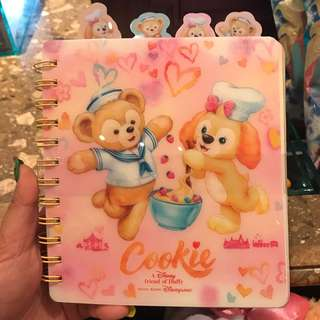 PO HK Disneyland Duffy's new Friend Cookie And duffy notebook