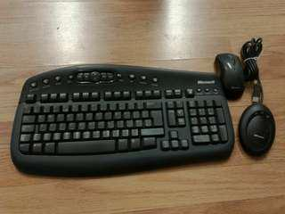 全新 未用過 微軟 1000 Wireless Keyboard mouse