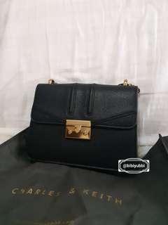 Charles & Keith Shoulder Bag Hitam Tas C & K
