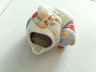 舊陶瓷壽星公烟灰缸