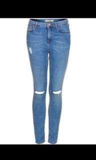 Authentic topshop ripped knee jamie jeans