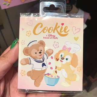 PO HK Disneyland Duffy's new Friend Cookie notepad sticky post it set