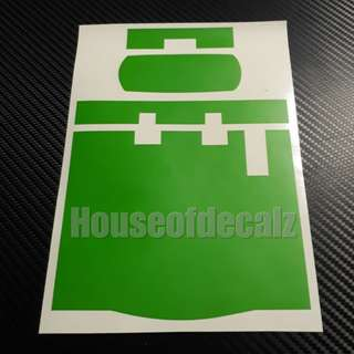 Iu unit Sticker Matte Green