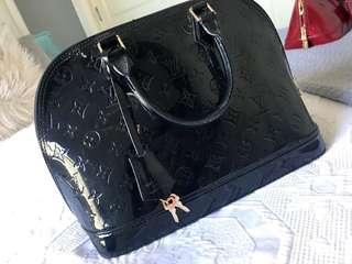 Louis Vuitton Alma Vernis Midnight Black