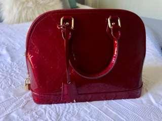 Louis Vuitton Alma Vernis Cherry Red