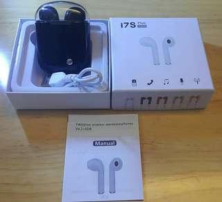 促銷價,手快有……i7S Plus TWS 藍芽無綫耳機一對連差電盒,黑色,可議價!