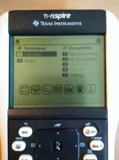 Texas Instruments calculator Nspire  touchpad