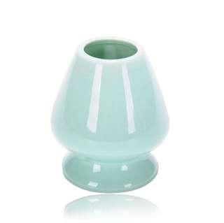 Turqoise Traditional Japanese Ceremonial Porcelain / Ceramic Chashuku (Whisk / Chasen Stand / Holder / Reshaper)