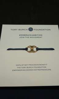 Tory Burch Embrace Ambition Bracelet Navy Gold