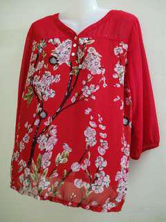Dolly Floral Blouse (Red)