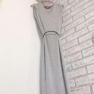 🚚 ZARA 灰色長洋裝