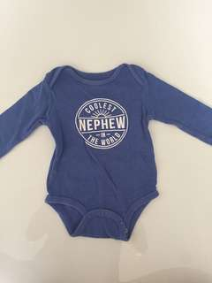 Carter's baby romper - coolest nephew in the world 6 mos