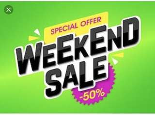 WEEKEND SALE! 50% OFF ON ALL CLOTHES AND SHOES !!!