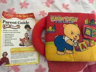 🚚 'Busy Baby' cloth book with sound My First Words Book