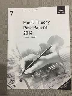 ABRSM Grade7 Music Theory Past Papers 2014 + Model Answer
