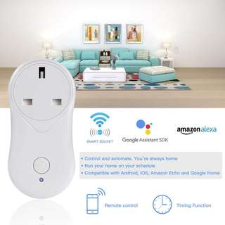 (358) Smart Plug WiFi Smart Wireless Timer Socket Remote Control by Smartphone Voice Control With Google Home, Power Switch Outlet With USB Charging Port No Hub Required (White)