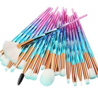 New 20pcs Diamond Makeup Brushes Set