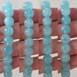 🐳Brazil Aquamarine bracelet (巴西海蓝宝手链). Bead size 10mm.