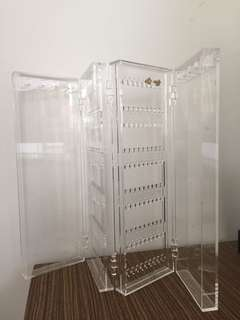 foldable acrylic jewelry case