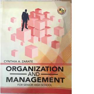 SHS ORG AND MANAGEMENT BOOK