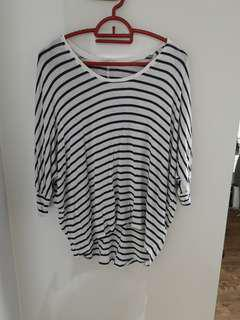 Cotton On Batwing stripe top