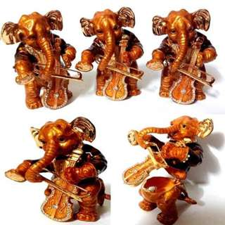 God Ganesha with musical violin