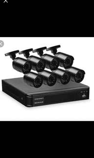8 Camera Home Security System with 1TB HDD DVR (CCTV)