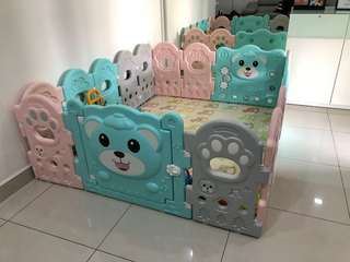 Baby safety play yard 14+2