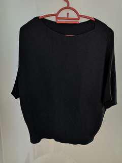 Black light knit batwing rop