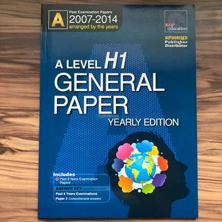 A Level H1 General Paper Ten Year Series (TYS) (2007-2014)