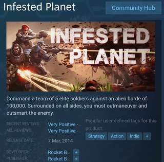 [Clearance Sale] Steam - Infested Planet Game
