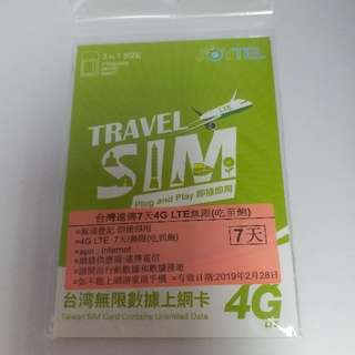 台灣遠傳7天 全程4G 無減速 上網卡