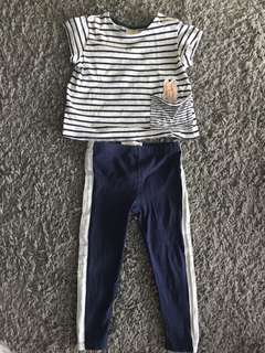 Zara Top and Cotton On Leggings